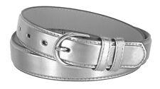 188 Women's Fashion Skinny Soft Dress Casual Leather Belt 1-1/8