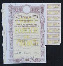 Action 1949 CREDIT FONCIER DE FRANCE   titre bond share 4