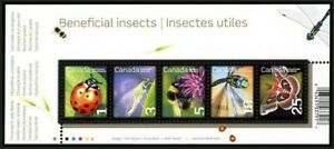 Canada 2007 MNH SS, Insects, Beetle, Bumblebee, Cecropia Moth,Darner