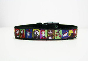 Nightmare Before Christmas Dog Collar and Lead