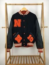 VTG Napersville North High School Varsity Quilted Lined Wool Jacket Size L USA