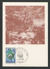 France MK 1969 CEPT acqua Protezione Diamante Diamond carte MAXIMUM CARD MC cm d8780
