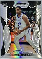 2019-20 Panini Pj Washington Jr. Silver Prizm Rookie Card Rc Charlotte Hornets