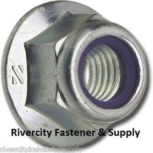 (10) 3/8-16 Nylon Insert Hex Flange Lock nuts / Stop nut / Nyloc 3/8x16