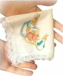 Peter Rabbit Handkerchief Personalised Ladies Mens Kids Baby Gift Beatrix Potter