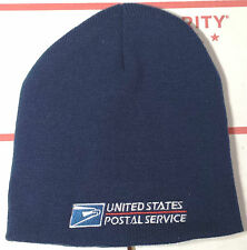 USPS Postal Dark Navy Beanie Cap Postal Logo Embroidered On Front FREE SHIPPING