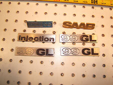 Saab 1977 99 GL 4 door  Hood / Grille/ Dash/ Hatch metal OEM 1 set of 6 Emblems