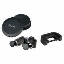 Rear Lens Cover Cap+Camera Body Cap+18mm Eyecup For Canon EOS 10D/20Da/300D/30D