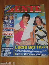 GENTE=1998/38=ADDIO LUCIO BATTISTI FILM VITA=TASHA VASCONCELOS MOTA Y CUNA=