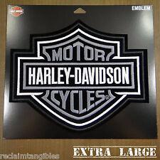 Harley Davidson Authentic Patch - Silver Classic Logo - XL Emblem Badge
