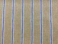 Oak Stripe  Yellow/ Grey/Ivory 100% Cotton  Curtain/Craft/upholstery Fabric