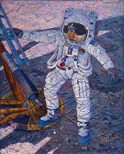 Alan Bean A GIANT LEAP, NEIL ARMSTRONG, Apollo 11, Moonwalker, giclee canvas