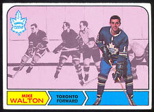 1968 69 TOPPS HOCKEY #132 MIKE WALTON VG-EX TORONTO MAPLE LEAFS FREE SHIP TO USA