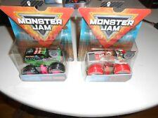 Monster Jam Truck X 2---- 1:64  Spinmaster Brand New