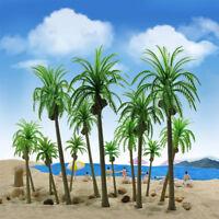 15pcs Model Coconut Trees Palm Tress Railway Layout OO/HO/TT/N/Z Scale YS04