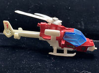 Vintage 1985 Matchbox Mission Helicopter Red White Macau Air 1 MB 153 1:80 Nice!