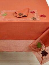 "Homewear Harvest Table Linens, Auburn Sheer 70"" Round Tablecloth new"