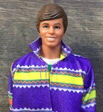 Vintage Benetton Barbie Ken Doll & Stand.