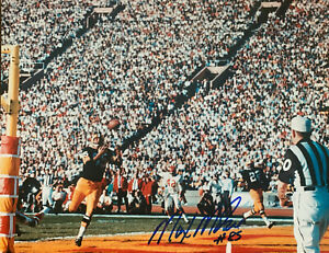 """MAX McGEE Green Bay Packers Autographed 8x10 PHOTO  ~ """"Max McGee TD SB #1"""