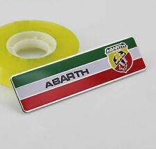 Auto Car ABARTH Aufkleber Emblem Alu Fenders Schriftzug Plakette für Italien NEW