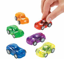 12 Transparent Pullback Mini Race Car Racers birthday party favors Racing