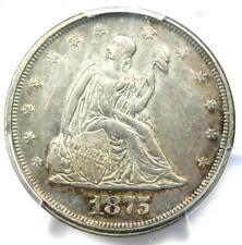 1875-P Twenty Cent Coin 20C - PCGS AU Details - Rare Date 1875 Coin!