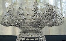 VINTAGE FEDERAL GLASS CLEAR YORKTOWN JUBILEE SET PUNCH BOWL WITH BASE & CUPS