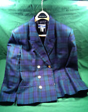 Women's 100% wool Pendleton jacket / blazer / coat, size 12, blue
