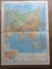1942 Vintage John Bartholomew Atlas Map Asia Physical features 20�
