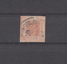 SACHSEN, 1850 Freimarke 1 gestempelt, Befund, (25151)