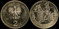 Pologne. 2 Zloty. 2007 (Pièce KM#Y.611 Neuf) Chevalier à cheval du XVe siècle