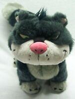 "Walt Disney Store Cinderella VERY SOFT LUCIFER BAD CAT 17"" Plush STUFFED ANIMAL"