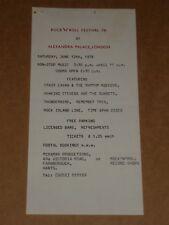 Crazy Cavan/Shakin' Stevens Rock & Roll Festival 76 Alexandra Palace Handbill
