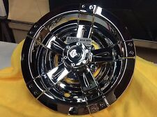 10 inch Chrome Vegas Wheelcovers (set of 4) for golf cart