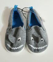 Wonder Nation Boys Slip On Shoes Infant's Casual Grey Shark Size 5 **NEW**