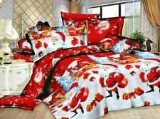 Winter Royal Santa XMAS Print Duvet Quilt Cover Bedding Set Pillowcases All Size