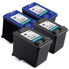 4PK HP 56 57 Ink Cartridge C6656AN C6657AN - PhotoSmart 7260 7660 7350 Printer