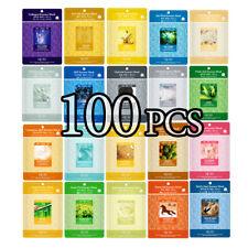 100 PCS Korean Essence Facial Mask Sheet, Moisture Face Mask Pack Skin Care Lot