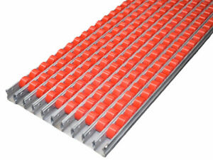 10x Röllchenleiste rot Rollenförderer L990 B40 Förderstrecke Rollenbahn