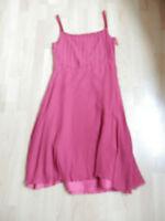 Mango MNG Kleid Seidenkleid Seide Beerenrot Gr. XL ( 36 - 38 )