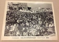 The Ten Commandments Vintage 8x10 B&W Old Photo Hollywood 1956 MGM Lobby Card