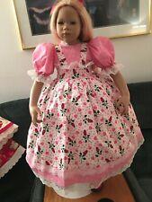 Himstedt Doll Pink Dress Roses Hearts Fits Nandini Gretta Nia Matoka #346