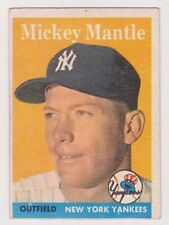 1958 Topps #150 Mickey Mantle - New York Yankees, Excellent Condition'