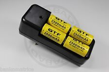 """12 PILES ACCUS RECHARGEABLE CR123A 16340 3.7V 2500mAh + CHARGEUR """" RAPIDE """""""
