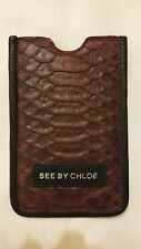 See by Chloe iPhone 5/5s BORGOGNA IN PELLE PORTA TELEFONO COVER