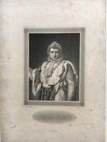 Kupferstich Napoleon Portrait mit Lorbeerkranz C. Barth Sc. 19. Jahrhundert