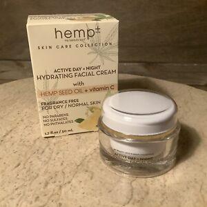 Day Night Hemp Oil Hydrating Face Cream - Vitamin C  1.7 OZ. TUB DRY NORMAL SKIN