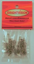 100 SILVER 1-72 Hex-Drive Button-Head Screw-In Rivets & 100 Washers For Customs