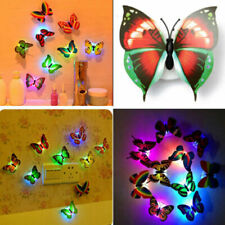 Night Light Colorful Changing Butterfly LED Night Light Lamp Kids Room Party