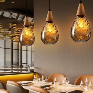 Glass Bar Pendant Lighting Kitchen Chandelier Lighting Home Wood Ceiling Lights
